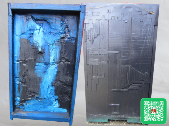Blue&Black Painted Panel_blog image640x480px
